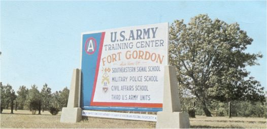 Fort Gordon sign